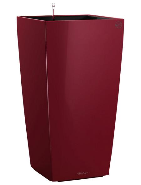 LECHUZA Pflanzgefäß »CUBICO«, BxHxT: 22 x 41 x 24 cm, rot
