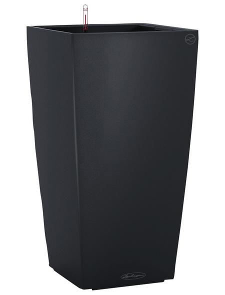 LECHUZA Pflanzgefäß »CUBICO«, BxHxT: 22 x 41 x 24 cm, schiefergrau