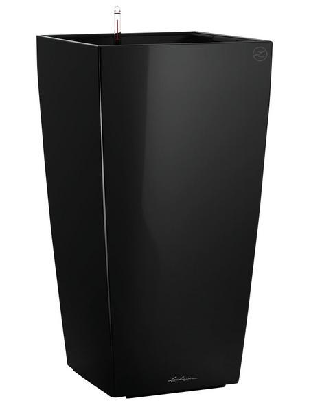 LECHUZA Pflanzgefäß »CUBICO«, BxHxT: 22 x 41 x 24 cm, schwarz hochglanz