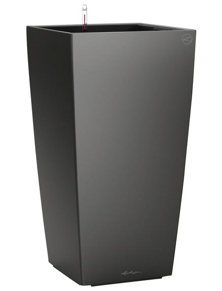 LECHUZA Pflanzgefäß »CUBICO«, BxHxT: 30 x 56 x 31,5 cm, anthrazit metallic