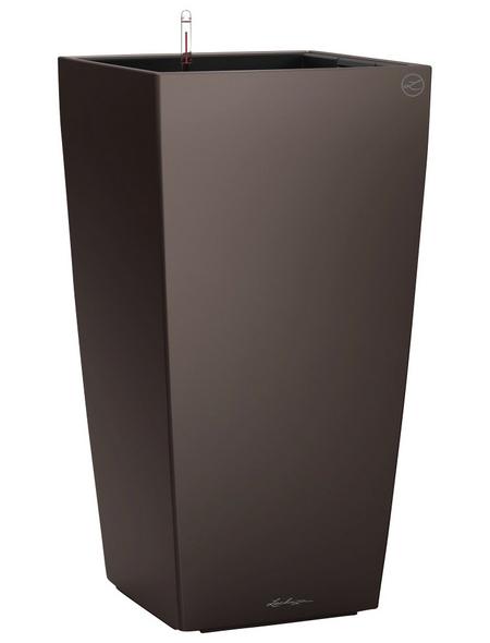 LECHUZA Pflanzgefäß »CUBICO«, BxHxT: 30 x 56 x 31,5 cm, espresso metallic