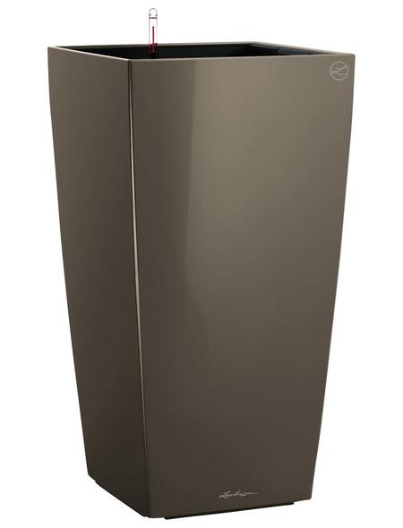 LECHUZA Pflanzgefäß »CUBICO«, BxHxT: 30 x 56 x 31,5 cm, taupe