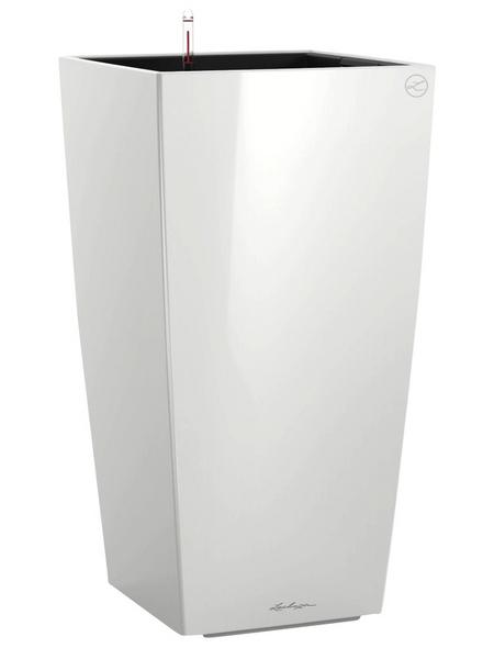 LECHUZA Pflanzgefäß »CUBICO«, BxHxT: 30 x 56 x 31,5 cm, weiß hochglanz