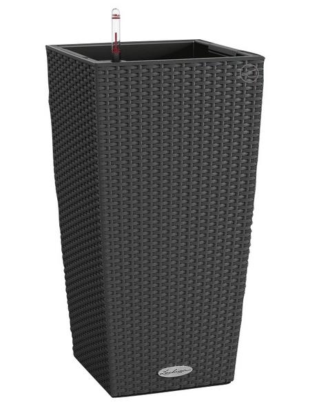 LECHUZA Pflanzgefäß »CUBICO«, BxHxT: 30 x 56 x 32 cm, granit
