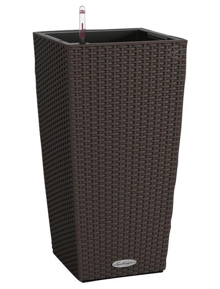 LECHUZA Pflanzgefäß »CUBICO«, BxHxT: 30 x 56 x 32 cm, mokka