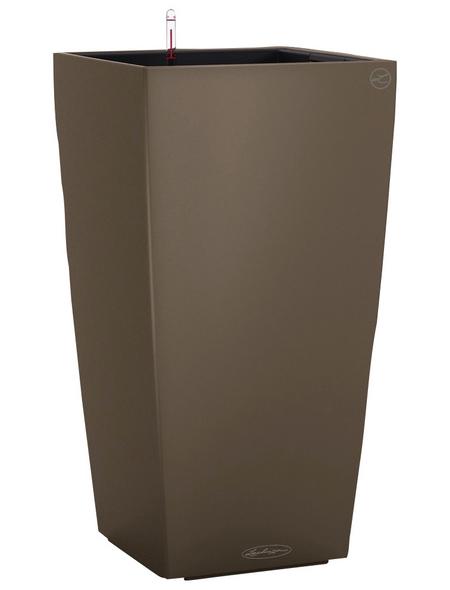 LECHUZA Pflanzgefäß »CUBICO«, BxHxT: 30 x 56 x 32 cm, muskatbraun