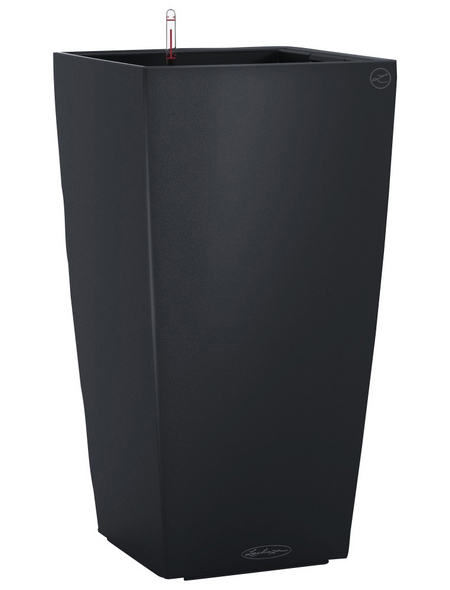 LECHUZA Pflanzgefäß »CUBICO«, BxHxT: 30 x 56 x 32 cm, schiefergrau