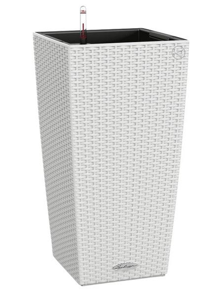 LECHUZA Pflanzgefäß »CUBICO«, BxHxT: 30 x 56 x 32 cm, weiß