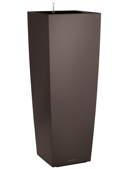 LECHUZA Pflanzgefäß »CUBICO«, BxHxT: 40 x 105 x 41 cm, espresso metallic