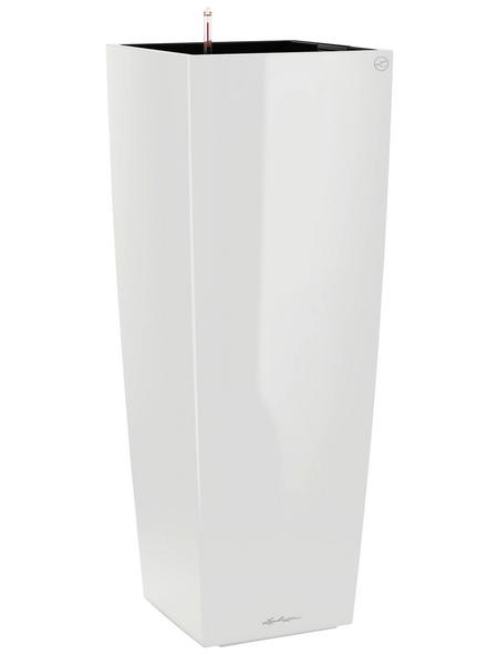 LECHUZA Pflanzgefäß »CUBICO«, BxHxT: 40 x 105 x 41 cm, weiß hochglanz