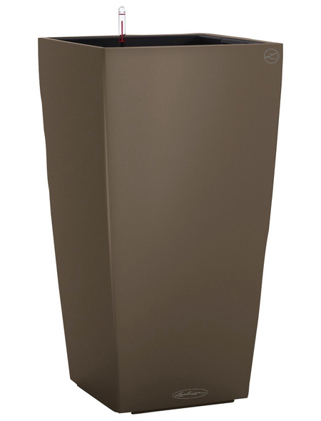 LECHUZA Pflanzgefäß »CUBICO«, BxHxT: 40 x 75 x 41 cm, muskatbraun