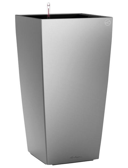 LECHUZA Pflanzgefäß »CUBICO«, BxHxT: 40 x 75 x 41 cm, silber-metallic