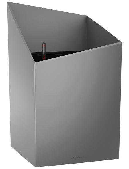LECHUZA Pflanzgefäß »CURSIVO«, BxHxT: 30,5 x 51,2 x 31 cm, silber-metallic