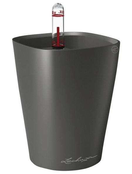 LECHUZA Pflanzgefäß »DELTINI«, ØxH: 10 x 13 cm, anthrazit metallic