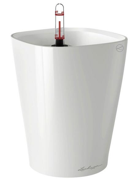LECHUZA Pflanzgefäß »DELTINI«, ØxH: 14 x 18 cm, weiß hochglanz