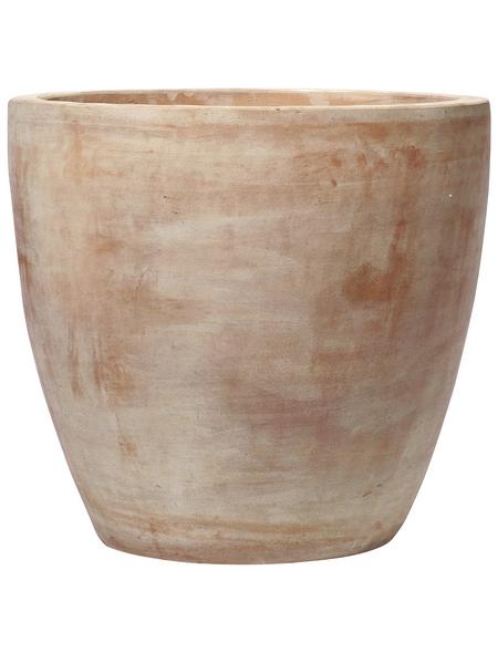 Kirschke Pflanzgefäß »GIANNA«, ØxH: 28 x 25 cm, terrakottafarben