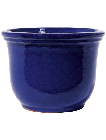 Kirschke Pflanzgefäß »Lage«, ØxH: 38 x 30 cm, blau