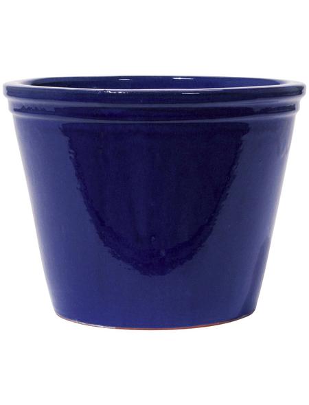 Kirschke Pflanzgefäß »Lemgo« mit 11,9 l Fassungsvermögen, rund, blau