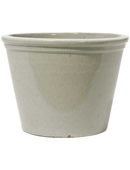 Kirschke Pflanzgefäß »Lemgo« mit 6,4 l Fassungsvermögen, rund, creme