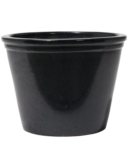 Kirschke Pflanzgefäß »Lemgo«, ØxH: 30 x 25 cm, graphitfarben
