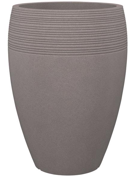 SCHEURICH Pflanzgefäß »LINEO HIGH«, ØxH: 39,2 x 54 cm, taupe