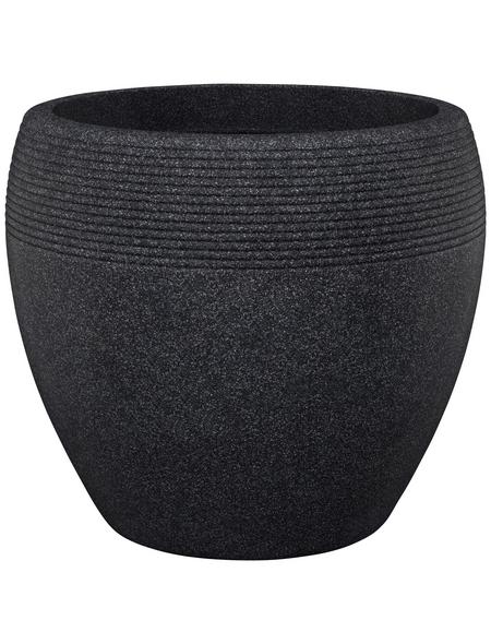 SCHEURICH Pflanzgefäß »LINEO«, ØxH: 28,65 x 24,1 cm, schwarz