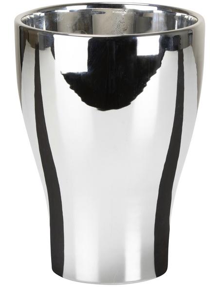 SCHEURICH Pflanzgefäß »MIRROR SILVER«, ØxH: 12,5 x 17 cm, silberfarben