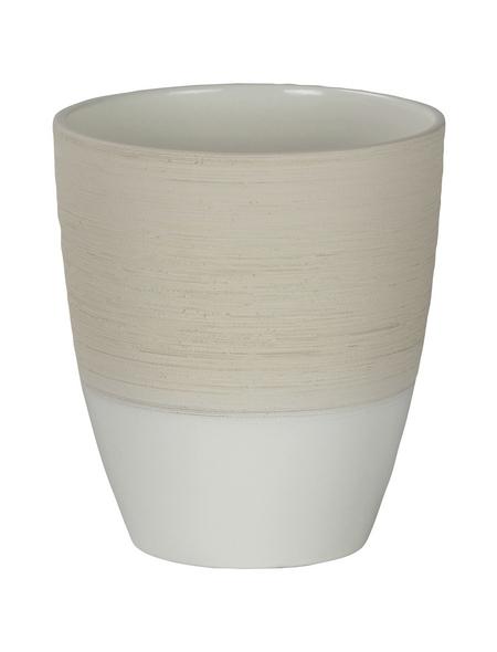 SCHEURICH Pflanzgefäß, ØxH: 13,3 x 15 cm, beige/creme