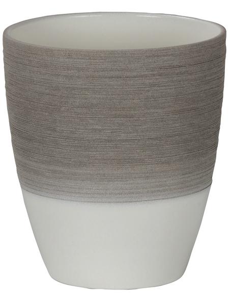 SCHEURICH Pflanzgefäß, ØxH: 13,3 x 15 cm, taupe/creme/beige