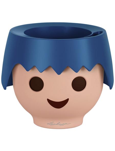 LECHUZA Pflanzgefäß »OJO«, ØxH: 21 x 21 cm, blau