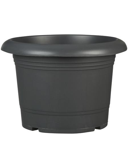PP-PLASTIC Pflanzgefäß »Oliver« mit 11,7 l Fassungsvermögen, rund, grau