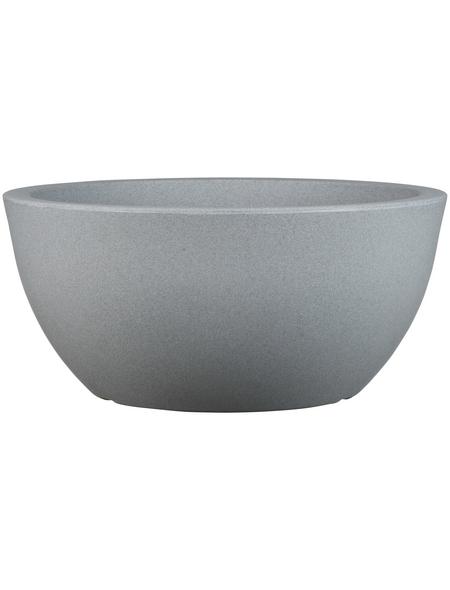 CASAYA Pflanzgefäß »PALERMO BOWL«, ØxH: 40 x 18 cm, grau