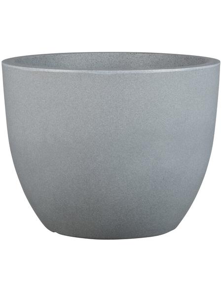 CASAYA Pflanzgefäß »PALERMO«, Kunststoff, grau, konisch/rund
