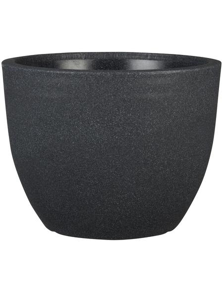 CASAYA Pflanzgefäß »PALERMO«, Kunststoff, schwarz, konisch/rund