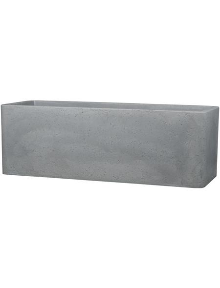 CASAYA Pflanzgefäß »QUADRO BOX«, Kunststoff, grau, rechteckig mit abgerundeten Ecken