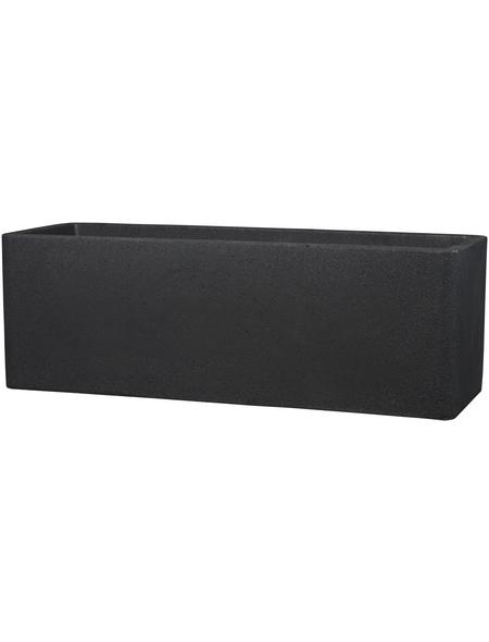 CASAYA Pflanzgefäß »QUADRO BOX«, Kunststoff, schwarz, rechteckig mit abgerundeten Ecken
