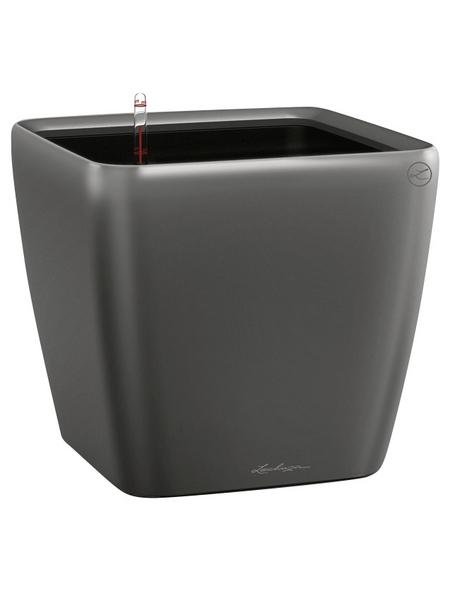 LECHUZA Pflanzgefäß »QUADRO«, BxHxT: 22 x 20,5 x 23,5 cm, anthrazit metallic