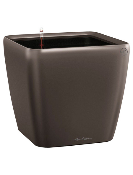 LECHUZA Pflanzgefäß »QUADRO«, BxHxT: 22 x 20,5 x 23,5 cm, espresso metallic