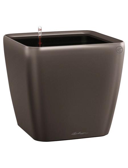 LECHUZA Pflanzgefäß »QUADRO«, BxHxT: 35 x 32,5 x 36,5 cm, espresso metallic