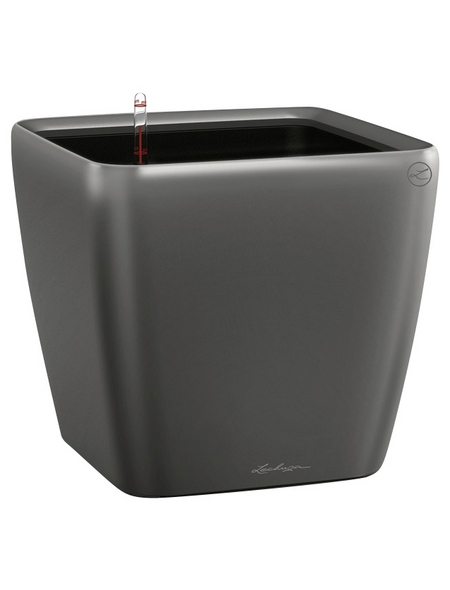 LECHUZA Pflanzgefäß »QUADRO«, BxHxT: 43 x 39,5 x 43,5 cm, anthrazit metallic