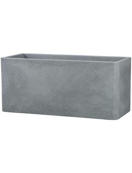 CASAYA Pflanzgefäß »QUADRO«, Kunststoff, grau, rechteckig