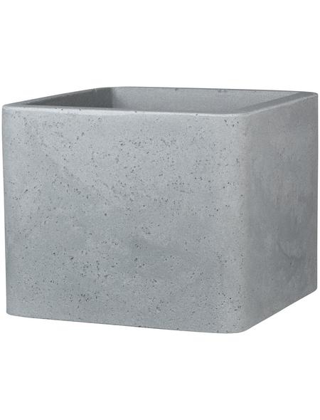 CASAYA Pflanzgefäß »QUADRO«, Kunststoff, grau, rechteckig mit abgerundeten Ecken