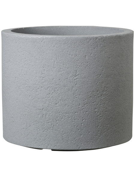 CASAYA Pflanzgefäß »ROMA«, Kunststoff, grau, zylindrisch