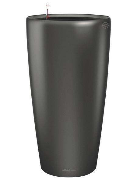 LECHUZA Pflanzgefäß »RONDO«, ØxH: 33 x 56 cm, anthrazit metallic