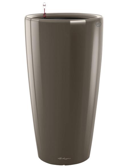 LECHUZA Pflanzgefäß »RONDO«, ØxH: 33 x 56 cm, taupe