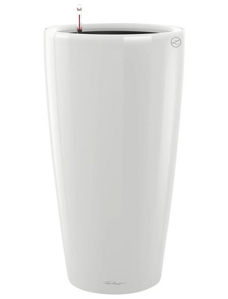 LECHUZA Pflanzgefäß »RONDO«, ØxH: 33 x 56 cm, weiß hochglanz