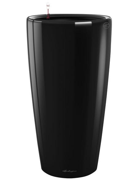LECHUZA Pflanzgefäß »RONDO«, ØxH: 40 x 75 cm, schwarz hochglanz