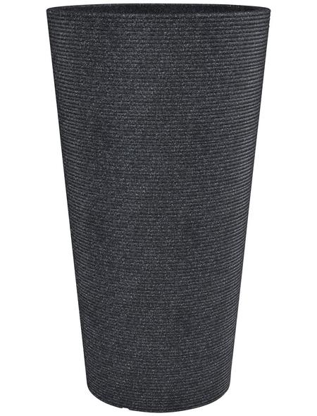 CASAYA Pflanzgefäß »SORRENTO HIGH«, Kunststoff, schwarz, konisch/rund
