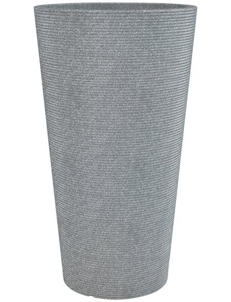 CASAYA Pflanzgefäß »SORRENTO HIGH«, ØxH: 39 x 70 cm, grau