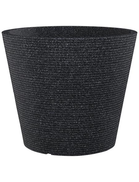 CASAYA Pflanzgefäß »SORRENTO«, ØxH: 47,2 x 39,4 cm, schwarz